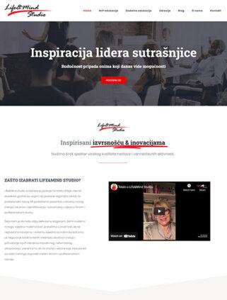 web dizajn Life & Mind studio