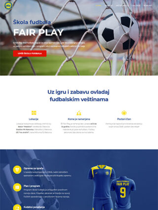 web dizajn skola fudbala Fair Play